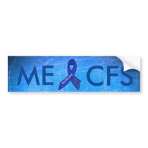 ME/CFS Blue Awareness Butterfly Bumper Sticker