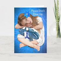 ME/CFS  Blue Awareness Ribbon and Girl Card
