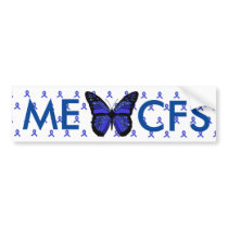 ME/CFS Blue Awareness Ribbon Bumper Sticker