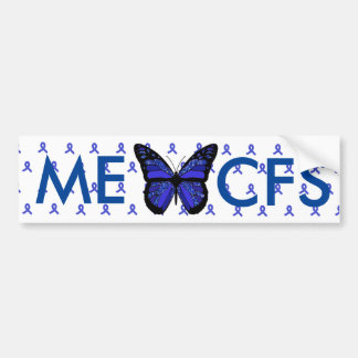 ME/CFS Blue Awareness Ribbon Bumper Sticker