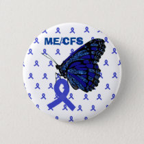 ME/CFS Blue Ribbon and Butterfly Awareness Button