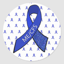 ME/CFS Blue Ribbon Awareness Stickers