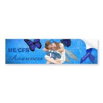 ME/CFS Chronic Fatigue Little Girl Angel Fairy Bumper Sticker