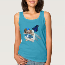 ME/CFS Chronic Fatigue Little Girl Angel Fairy Tank Top