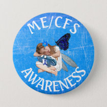 ME/CFS Chronic Fatigue Syndrome Awareness Button