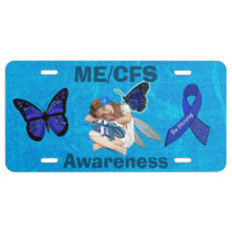 ME/CFS Chronic Fatigue Syndrome Awareness Plate