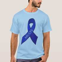 ME/CFS Chronic Fatigue Syndrome Awareness Ribbon T-Shirt