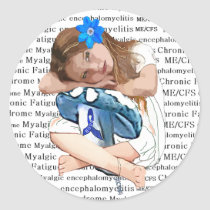 """ME/CFS"" Chronic Fatigue Syndrome ""Girl of Hope"" Classic Round Sticker"