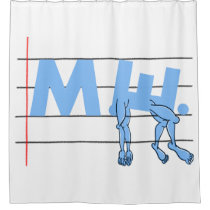 ME CFS Chronic Fatugue Shower Curtain