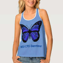 ME/CFS Survivor Butterfly and Awareness Ribbon Tank Top