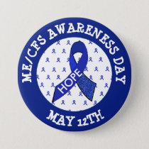 ME/CFS Syndrome Awareness Day May 12 Ribbon Button