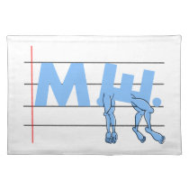 ME Chronic Fatigue Text Art Cartoon Cloth Placemat