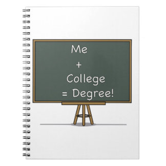 Me + College = Degree Notebook