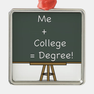 Me + College = Degree Ornament