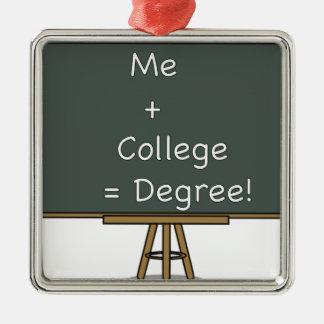 Me + College = Degree Ornament