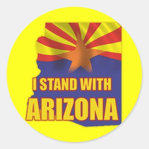Me coloco con Arizona Pegatinas
