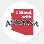 Me coloco con Arizona Pegatina Redonda