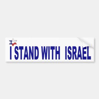 Me coloco con el PARACHOQUE de Israel Pegatina Para Auto