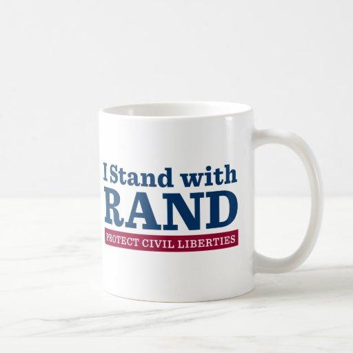 Me coloco con el rand tazas de café