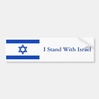 Me coloco con Israel Pegatina De Parachoque