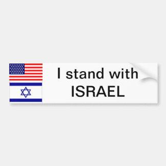 Me coloco con Israel Etiqueta De Parachoque