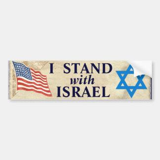 """""""Me coloco con Israel """" Pegatina De Parachoque"""