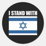 Me coloco con Israel Etiquetas Redondas