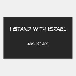 Me coloco con Israel Pegatina Rectangular