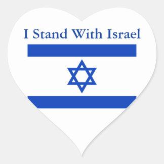 Me coloco con Israel Pegatina En Forma De Corazón