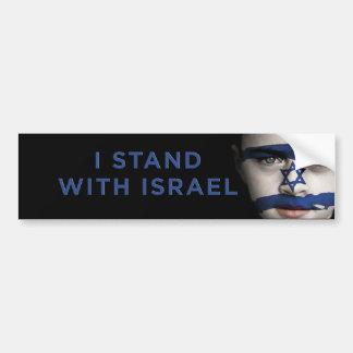 """""""Me coloco con Israel """" Pegatina Para Auto"""