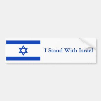 Me coloco con Israel Pegatina Para Auto