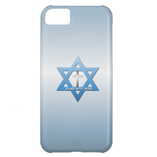 Me coloco con la cruz del cristiano de Israel Funda Para iPhone 5C