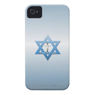 Me coloco con la cruz del cristiano de Israel iPhone 4 Case-Mate Carcasas