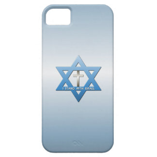 Me coloco con la cruz del cristiano de Israel iPhone 5 Funda