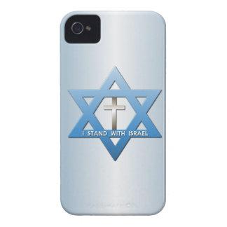 Me coloco con la estrella cruzada cristiana de Case-Mate iPhone 4 protectores