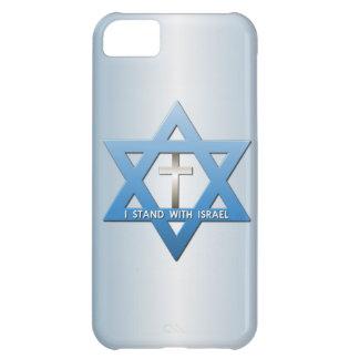 Me coloco con la estrella cruzada cristiana de funda para iPhone 5C