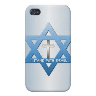 Me coloco con la estrella cruzada cristiana de iPhone 4 funda