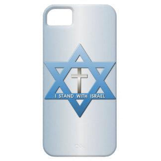 Me coloco con la estrella cruzada cristiana de iPhone 5 fundas