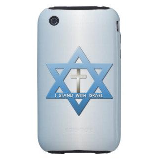 Me coloco con la estrella cruzada cristiana de tough iPhone 3 funda