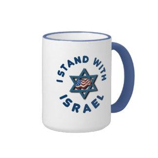 Me coloco con la estrella de bandera americana de taza de dos colores