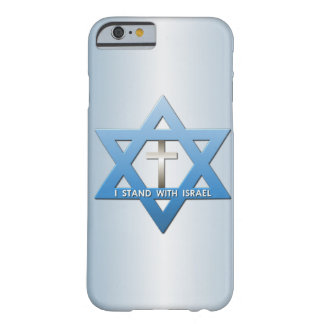Me coloco con la estrella de Israel de la cruz del Funda Para iPhone 6 Barely There