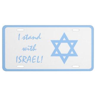 Me coloco con la estrella de Israel de la placa de Placa De Matrícula