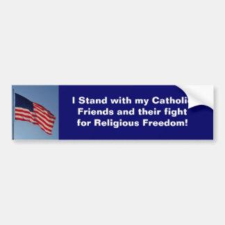 Me coloco con mis amigos católicos y su lucha pegatina de parachoque
