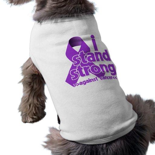 Me coloco fuerte contra cáncer pancreático camisetas mascota