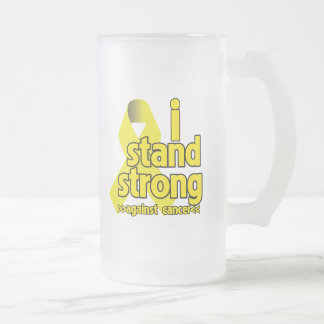 Me coloco fuerte contra cáncer testicular tazas de café