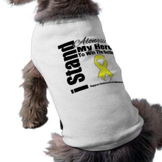 Me coloco junto a mi endometriosis del héroe playera sin mangas para perro