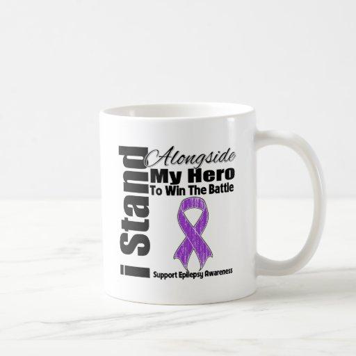 Me coloco junto a mi epilepsia del héroe taza de café