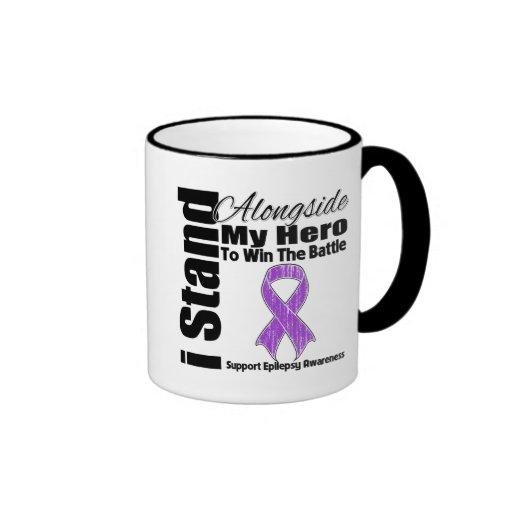 Me coloco junto a mi epilepsia del héroe taza