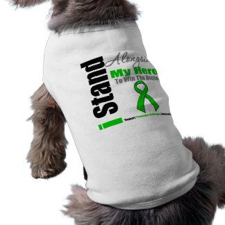 Me coloco junto a mi lesión cerebral traumática de playera sin mangas para perro
