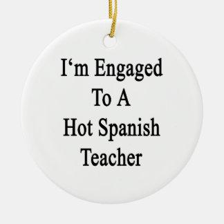 Me contratan a un profesor español caliente ornamento para arbol de navidad